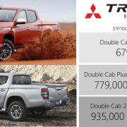 Mitsubishi Triton ใหม่อัพเดทก่อนใคร Big-Minorchange (Double Cab 4 ประตู)ราคา