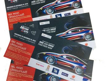 แจกบัตรเข้างาน Motor Expo 2019